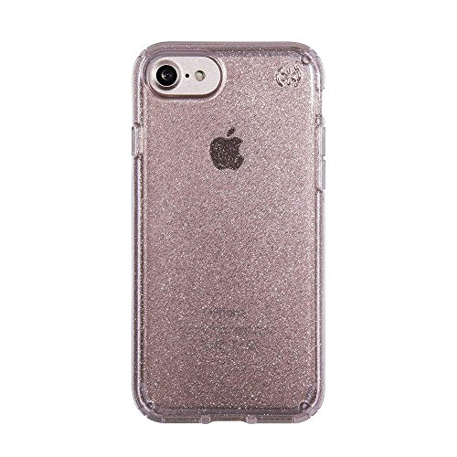 Speck Products Presidio Clear + Glitter Cell Phone Case for iPhone 7, iPhone 6/6S - Gold Glitter/Rose Pink Clear from Speck