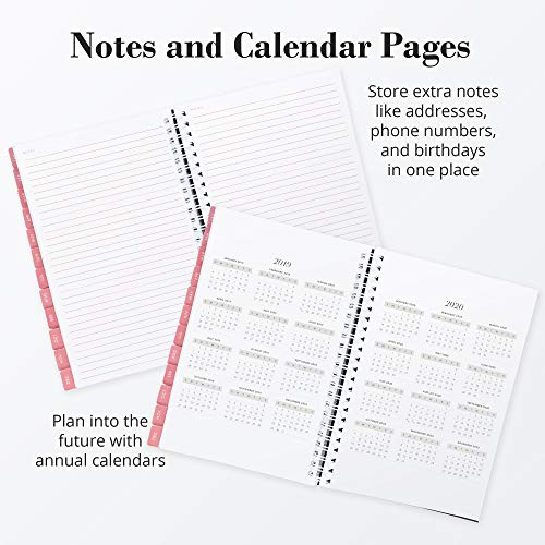 2019 Monthly Weekly Planner Calendar Appointment Book, 5.5 x 8 inches, Premium Paper, Chic Fashionable Elegant (AJWP-201) Photo #4