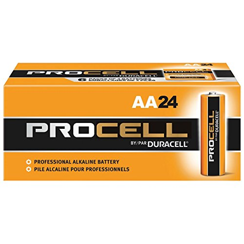 Duracell Procell PC1500 Alkaline-Manganese Dioxide Battery, AA Size, 1.5V, 24 Count (Duracell Aa)