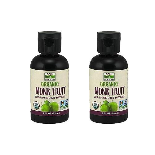 NOW Foods Organic Monk Fruit Zero-Calorie Liquid Sweetener