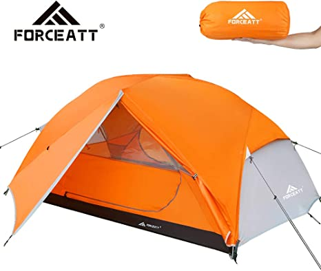 Forceatt Camping Tent 2 3 Person, 2 Doors Ventilation Double Layer Waterproof Lightweight Backpacking Tent with Carry Bag, 3 4 Seasons, Easy Set Up,