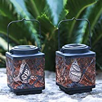 2-Pack Kircust Solar Lantern Outdoor Hanging Solar Lights