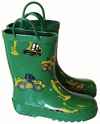 Foxfire for Kids Green with Constuction Equipment Rubber Boo