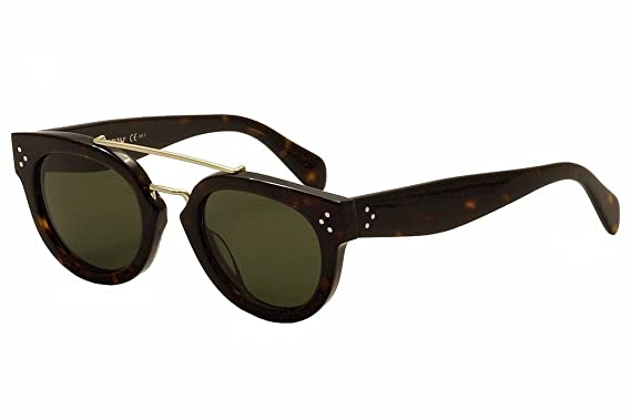 22450b605b38 Celine 41043 S Sunglass-0086 Dark Havana (1E Green Lens)-49mm at ...