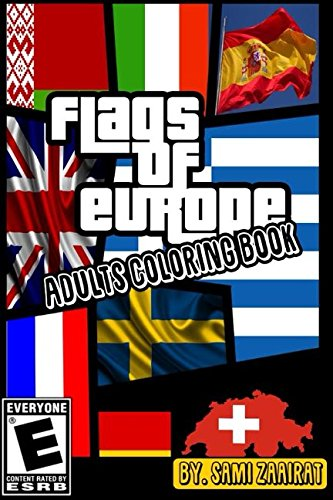 Flags of Europe: Adults coloring -