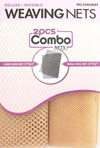 Collection Fishnet (Magic 2 pcs Combo Weaving Nets #22402 Natural, deluxe, invisible, hole nets, large hole net, small hole net, fishnet, fish net, by Magic Collection)