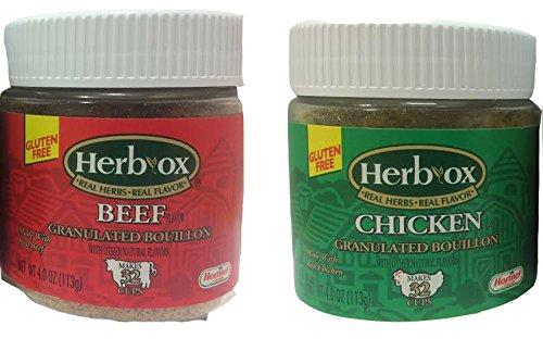 Herb-ox Granulated Bouillon Bundle of Two 4 Oz Jars: One (Bouillon Granules)