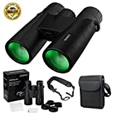 Binocular for Adults,IHOMKIT 12x42 Binocular Telescopes, Professional HD Compact Waterproof and Fogproof Binoculars Sports BAK4 Prism FMC Lens for Outdoor Bird Watching Hiking Travel Hunting,Black