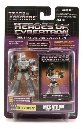 Transformers Heroes of Cybertron Generation One Collection: Decepticon Megatron with -