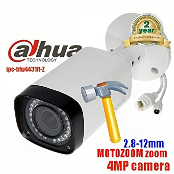 Dahua ipc-hfw4431r-z 2,7 ~ 12 mm lente varifocal motorizada 4 MP WDR Bullet Cámara de seguridad red POE IP67 batería IP CCTV impermeable Version ...