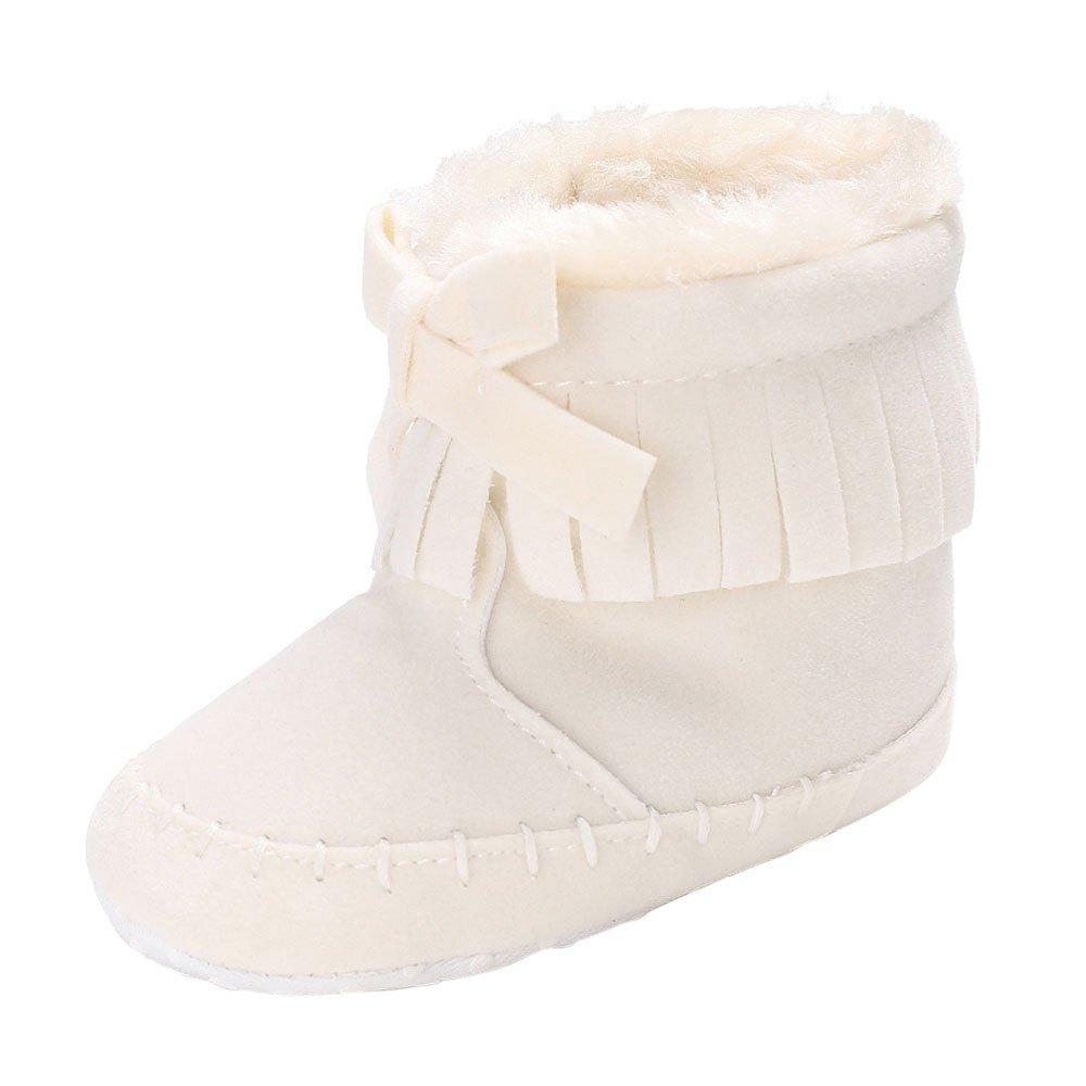 YanHoo Zapatos de bebé Zapatos de otoño e Invierno de Fondo Suave para niños pequeños Baby Girl Soft Sole Booties Botas para la Nieve Infant Toddler Newborn ...