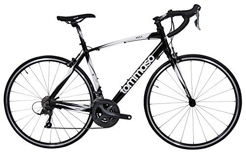Tommaso Imola Endurance Aluminum Road Bike, Shimano Claris R2000, 24 Speeds - Black - Extra ()
