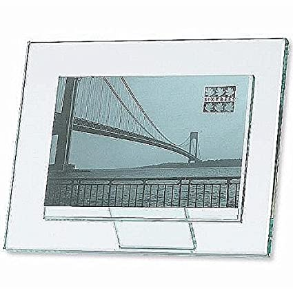 Amazon.com - MODA solid glass 7x5 frame with foot-back \'floats\' your ...