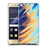 Official Andi Greyscale Two Sides of One Extreme Abstract Marbling Soft Gel Case Compatible for Huawei P8 Lite (2017)
