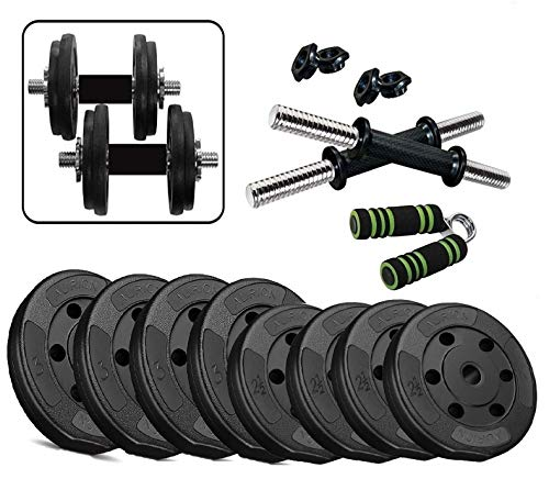 Aurion Home Gym Weight Lifting Pack 22 Kg with Hand Grip x 1