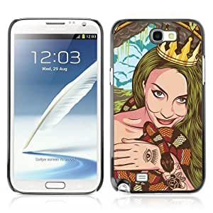YOYOSHOP [Cool Vintage Tattoo Woman] Samsung Galaxy Note 2 Case WANGJING JINDA