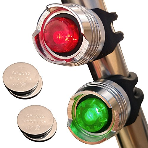 Bright Eyes Green & Red Aluminum Portable Marine LED Boating Lights - Boat Bow or Stern Emergency Backup Safety Lights for Maximum Attention - Waterproof (Portable Boat compare prices)