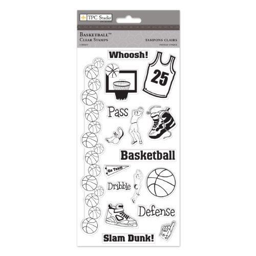 THE PAPER COMPANY,St 93473, Basketball Clear Stamps