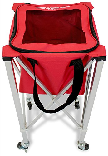 PowerNet Wheeled Ball Caddy Cart for Baseball Softball and Tennis by PowerNet