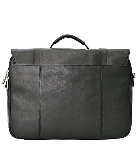 Samsonite Colombian Leather Flapover Case (Black/Chrome) by Samsonite (Image #3)