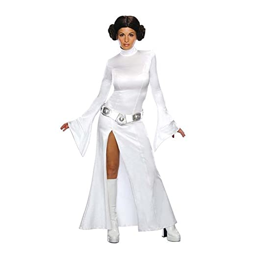 f13f79e5f0a1 Amazon.com  Womens Leia Princess Cosplay Costumes Sexy Jumpsuits Dresses   Clothing