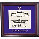 Kansas State Wildcats Diploma Frame Purple Silver Matting Embossed Seal
