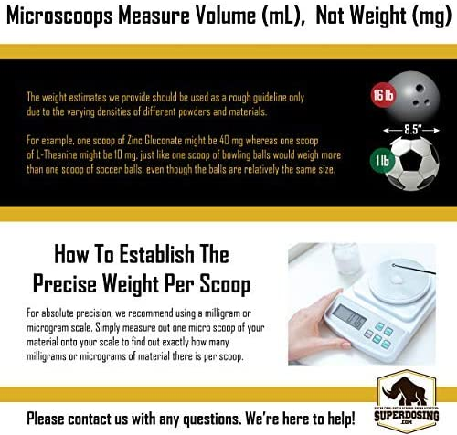 25-30 Measuring... Superdosing 2-in-1 Static-Free Micro Scoop With 10-15 mg