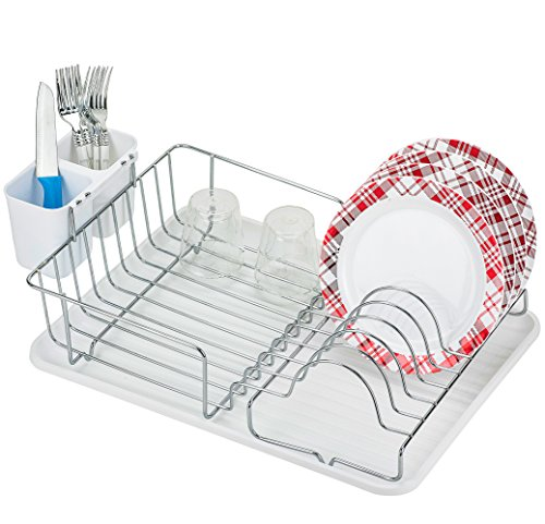 DecorRack Stainless Steel Dish Rack, 17 x 12 inch Rust Free