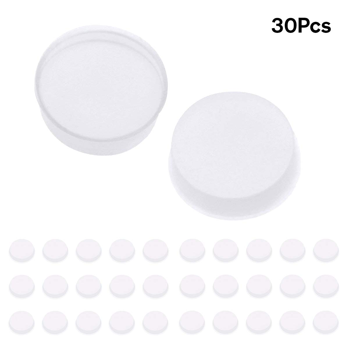 Soft Rubber Flute Plugs, Ladash Pack of 30 Open Hole Plug Covers Flutes Repair Parts Accessories, 7 X 3mm