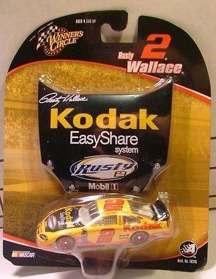 rusty-wallace-2-kodak-easy-share-system-car-1-64-scale-diecast-2004-dodge-intrepid-with-bonus-matchi