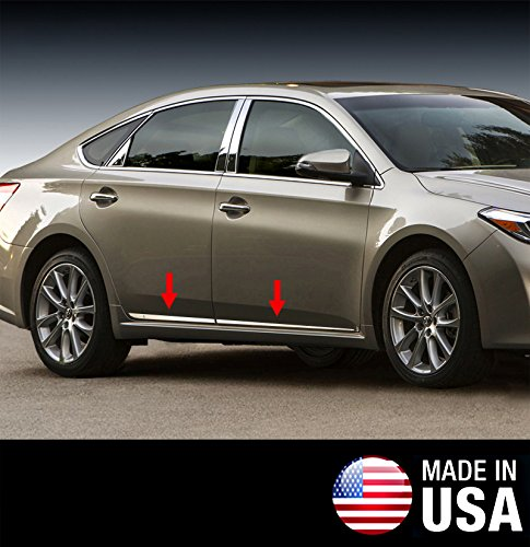 Made In USA! Works With 2013-2017 Toyota Avalon Lower Accent Body Side Molding Trim Wide 4PC MaxMate