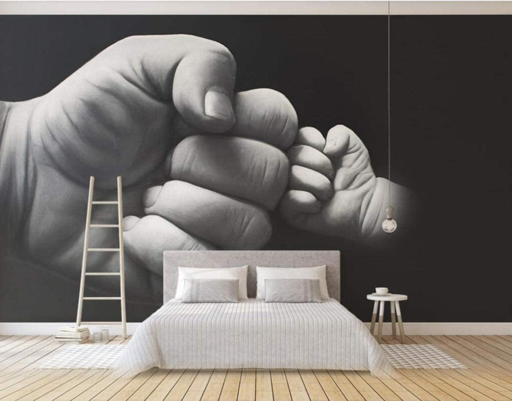 Scmkd Custom Wallpaper Hand Drawn Black And White Fist 3d Tv Backdrop Wall Living Room Bedroom Background Mural 3d Wallpaper 350cmx250cm Amazon Com