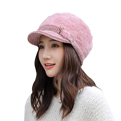 EnjoCho 2018 Elegant Women Knitted Hats Beanie Cap Autumn Winter Berets Ladies Female Fashion Skullies Beret Hat ()