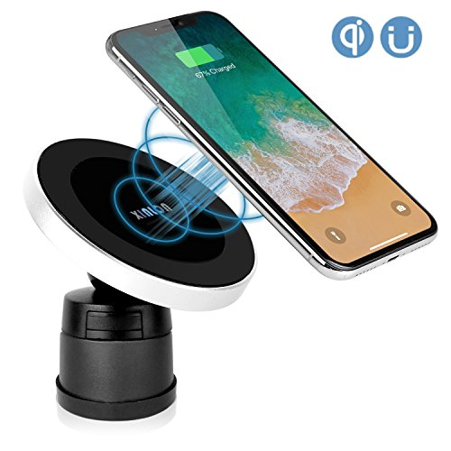 XINLON Magnetic Wireless Car Charger,Wireless Charging for Samsung S8 S8+ S8 Plus S7 S7 Edge S6 Edge Plus Note 5 Note 7 Note 8Apple iPhone X/8/8 Plus and All QI-Enabled Devices(No Car Charger)