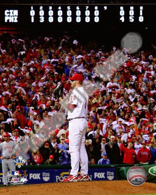 Roy Halladay Throws The Second No Hitter In Mlb Postseason History   Philadelphia Phillies Mlb 8X10 Photo