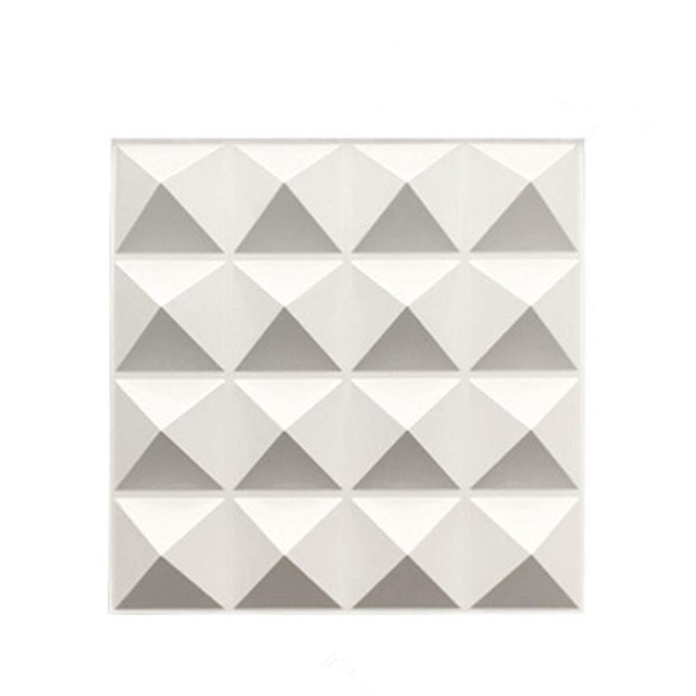 TroyStudio Acoustic Sound Diffuser Panel - Multiple Colors, 12'' X 12'' X 1'', PACK of 4 (White) by TroyStudio
