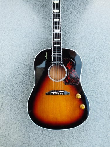 RGM171 John Lennon New Acoustic Miniature Guitar