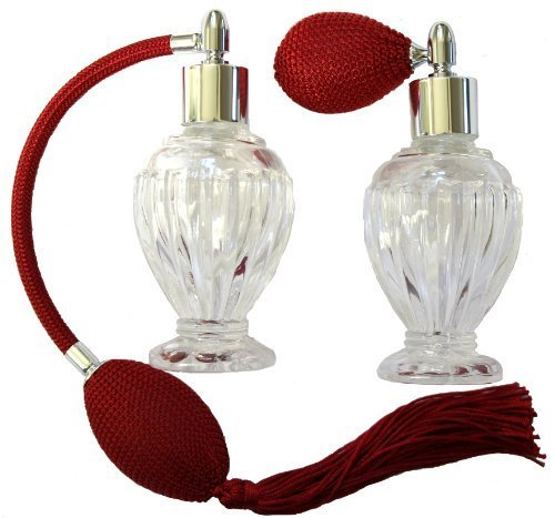 (Vintage Perfume Atomizer-Red Bulb and Tassel Set by Salam Collections)