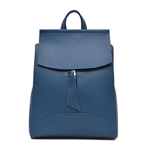 Mochila Mujer Bolso de viaje Bolsa de hombro Bolsa para la escuela LMMVP (25cm*10cm*32cm, Marrón) Azul