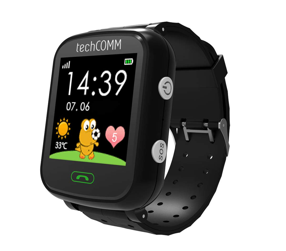 b1b6b3e15e80 Amazon.com  TechComm G200S Kids Smart Watch with Pedometer and GPS for T- Mobile ONLY  Cell Phones   Accessories