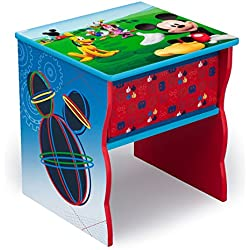 Delta Children Side Table with Storage, Disney Mickey Mouse