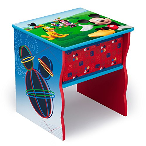 Delta Children Side Table with Storage, Disney Mickey Mouse (Set Mickey Mouse Table)