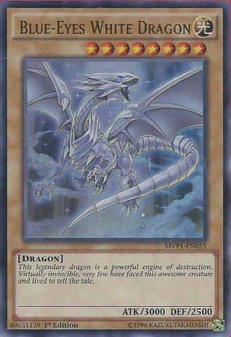 Yu-Gi-Oh!! - Blue-Eyes White Dragon (MVP1-EN055) - The Dark Side of Dimensions Movie Pack - 1st Edition - Ultra Rare