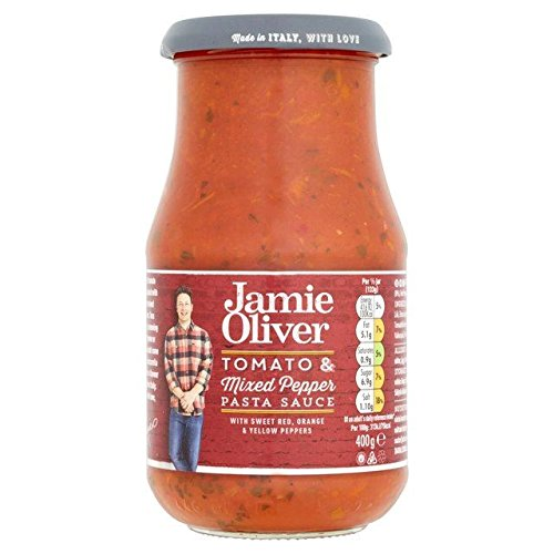 Jamie Oliver Tomato & Mixed Pepper Pasta Sauce 400g - Pack of 2