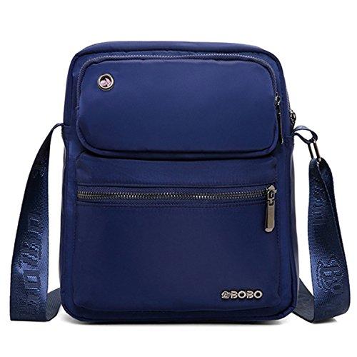 JOSEKO JOSEKOukpursemall1242 - Bolso al hombro para hombre azul oscuro 21cm x 6cm x 26cm Azul Oscuro