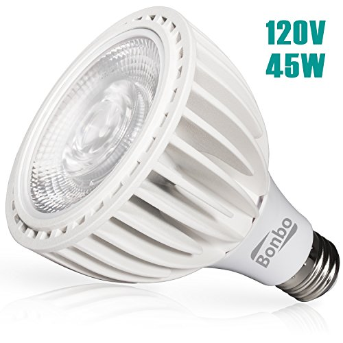 Bonbo LED Pool Bulb White Light, 120V 45watt 6000k Daylight White - New Version COB Technology E26 Base 300-500w Traditional Bulb Replacement for Most Pentair Hayward Light (Pool Light Bulb Replacement)