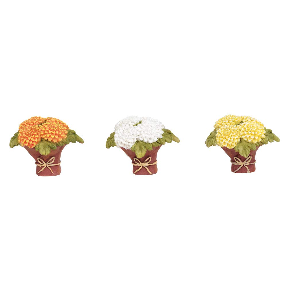 Department 56 Village Collections Accessories Mums for Mom Figurines 1.06 Multicolor