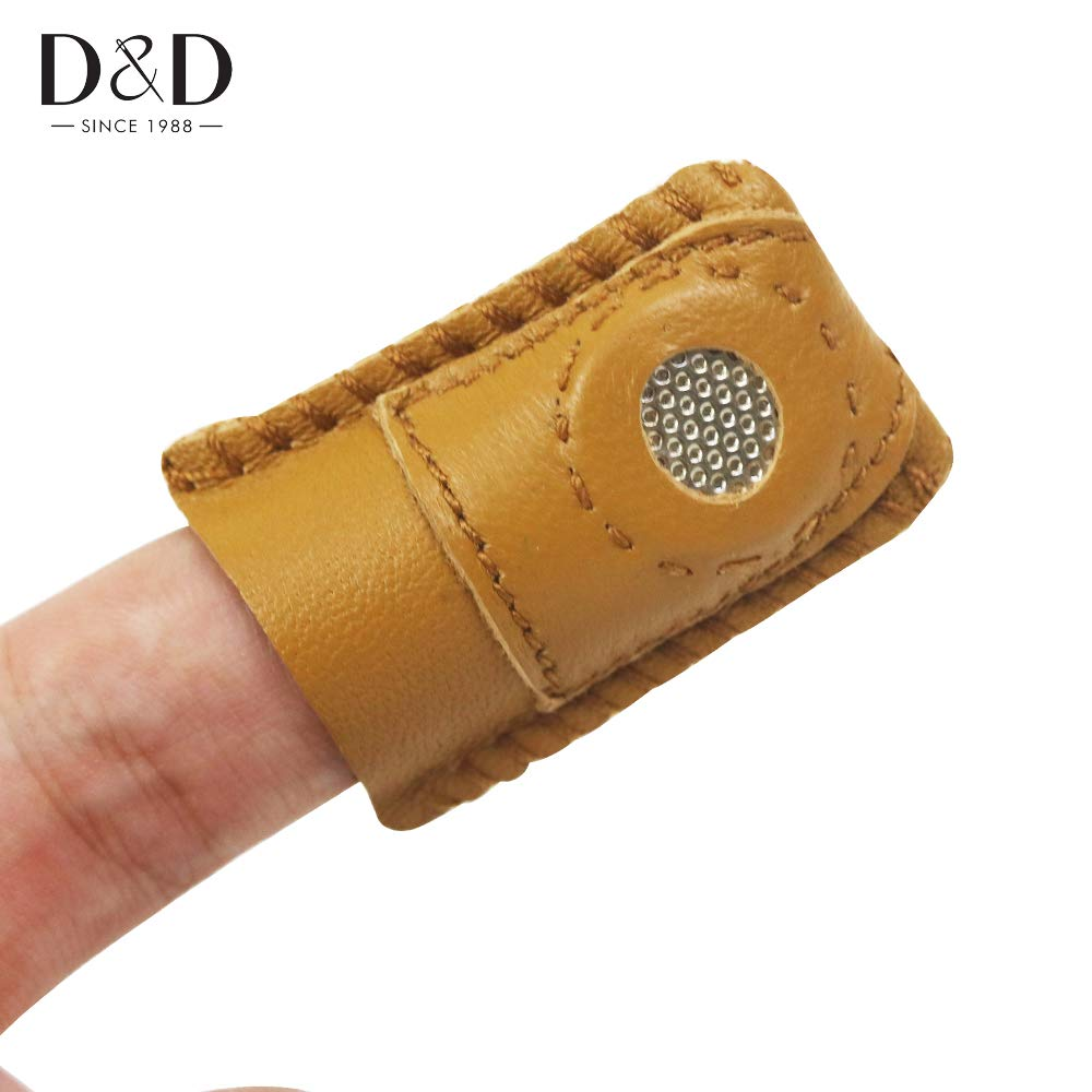 ShineBear 5pcs DIY Synthetic Leather Coin Thimble with Metal Tip Handmade Needlework Sewing Accessory 43.5cm by ShineBear