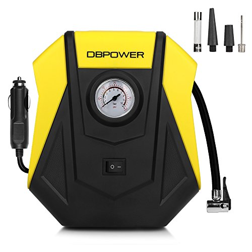 DBPOWER 150PSI 12V DC Portable Compact Tire Inflator, Auto Electric Air Compressor for Cars, Bikes, Motorcycles and Sport Balls