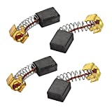 uxcell® 2 Pairs Carbon Brushes Power Tool 10 x 8 x 5mm for Generic Electric Motor